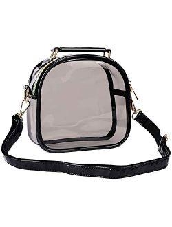 Y&R Direct Clear Purse Crossbody Bag Clear Handbag Tote Bag Stadium Approved Large PVC