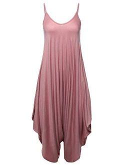 Made by Emma Women's Solid Harem Pant Sleeveless Harem Pant Jumpsuit
