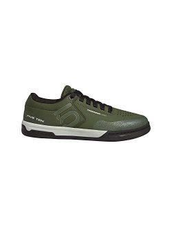 Five Ten Freerider Pro Mens Mountain Bike Shoes, (Strong Olive, Raw Khaki, Ash Silver), Size 12