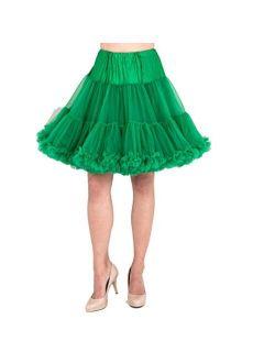Malco Modes Luxury Vintage Knee-Length Crinoline Jennifer Petticoat Skirt Pettiskirt, Adult Tutu for Rockabilly 50s, Kelly, Large