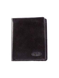 Big Skinny Men's Hipster Leather Bi-Fold Slim Wallet, Holds Up to 40 Cards
