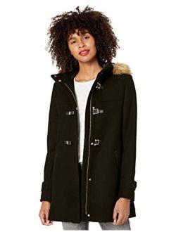 Women's Signature Hooded Wool Duffle Coat