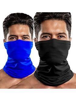 2pack Upf 50+ Neck Bandana Neck Gaiter Face Shield Mask Breathable Face Scarf