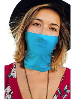 Face Mask Bandana Neck Gaiter Made in USA for Dust Outdoors Festival Activities