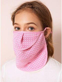 Kids Polka Dot Pattern Face Mask