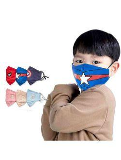 Kids Childrens Marvel Frozen Half Face Mask Washable Boy Spiderman Mask Cosplay