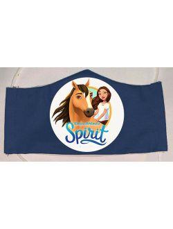 Spirit Riding Free Face Mask For Kids Boy Girl Washable Reusable Handmade Cotton