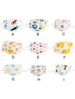 Kids Boys Girls Protective Face Mask 5 ply Filter Safety Cotton Masks Adjustable