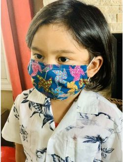 Kids Pink Girls Red Face Mask Hand Made Washable Cotton Children Double Layer US