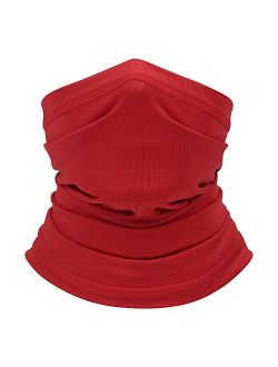 Summer Neck Gaiter Face Scarf/Neck Cover/Face Cover for Sun Hot Summer Cycling Hiking Fishing Red