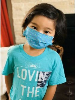 Kids Girl Boy US Face Mask Mouth Cover Washable Cotton Children Layer Protective