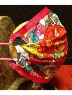 TROLLS 2 Tour Handmade Double Fold Washable Reusable Face Mask Insert Girl Kids