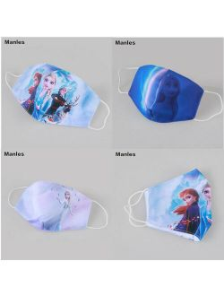 Frozen 2 Cartoon Face Mask Girls Cosplay Washable Mouth Cover Adult Kids Mask