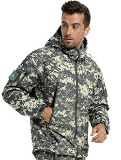 ANTARCTICA Men's Outdoor Waterproof Soft Shell Hooded Military Tactical Jacket