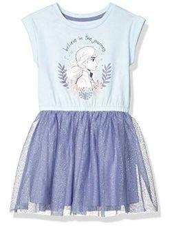 - Spotted Zebra Girls Disney Star Wars Marvel Frozen Princess Knit Short-sleeve Tutu Dresses