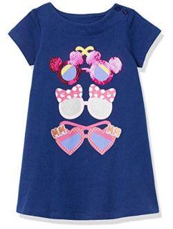 - Spotted Zebra Girls Disney Star Wars Marvel Frozen Princess Knit Short-sleeve T-shirt Dresses
