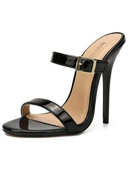 fereshte Women's Men's Slide Mules Sandals Strap Stiletto High Heels