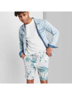 """Print 8.5"""" Mid-rise Jogger Shorts - Original Use Gray"""