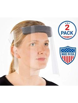Face Shields with Protective Clear Film, Elastic Band and Comfort Sponge. Eye Protection