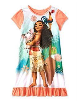 Princess Moana Girls Short Sleeve Nightgown Pajamas