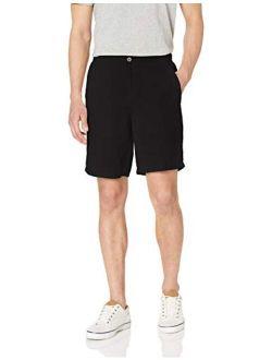 Men's Slim-fit 9 Solid Above Knee Ziper Fly Short