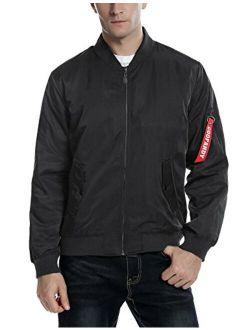 Mens Casual Zip Up Hoodie Jacket Shiny Metallic Bomber Nightclub Party Baseball Coat