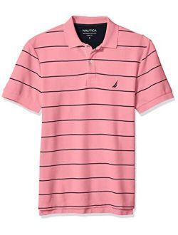 Men's Short Sleeve Striped Regular Fit Polo T-shirt