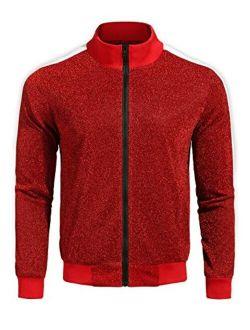 Men's Bomber Baseball Jacket Slim Fit Zip Up Premium Track Jackets