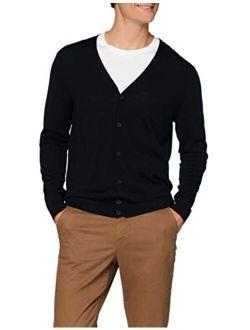 Amazon Brand - Meraki Men's Slim-Fit Fine Merino Wool V-Neck Cardigan Sweater
