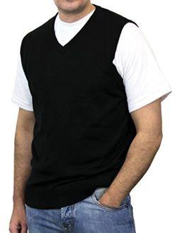 Blue Ocean Big Men Solid Color Sweater Vest