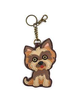 CHALA Yorkshire Terrier 's Gift Collection | Yorkie Theme Handbag 's Key fob/Small Coin Purse(Yorkie Keyfob)