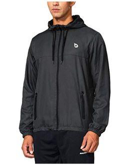 BALEAF Men's Sports Windbreaker Running Track Workout Jackets Lightweight Water Resistant Jackets Zip Pockets