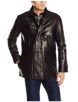 Men's Smooth Lamb Leather Car Coat
