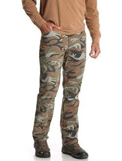 Green Camo Outdoor Performance Comfort Flex Cargo Pants