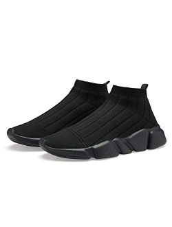 N / A Mens Balenciaga Look Tennis Shoes Sock Shoes Running Fashion Sneakers for Men Work Shoe Slip On Athletic Shoes