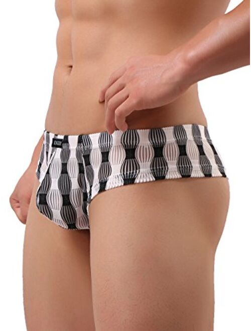 iKingsky Men's Cheeky Boxer Briefs Sexy Low Rise Pouch Men Thong