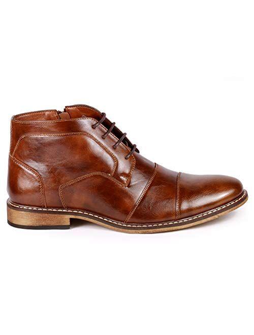 Metrocharm MC147 Men's Cap Toe Formal Dress Casual Oxford Ankle Boot