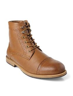 GM GOLAIMAN Men's Dress Boots Casual Lace up Cap Toe Boots