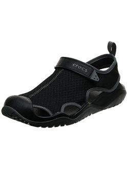 CROC Men's Swiftwater Mesh Deck Sandal Sport