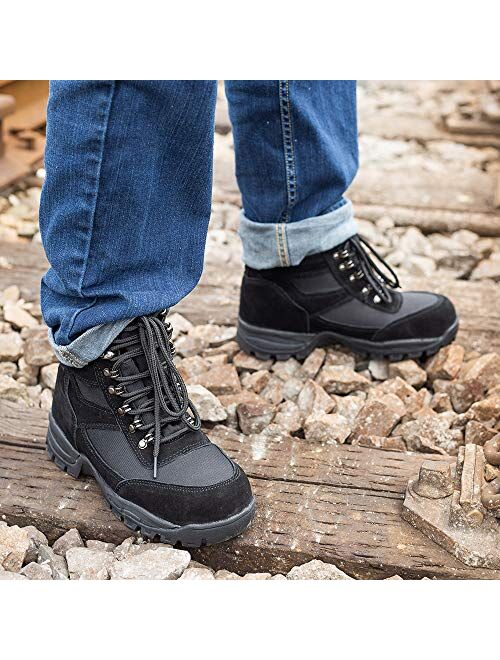"""DRKA Mens 6"""" Steel Toe Work Boots,Electric Hazard Military Tactical Boots"""