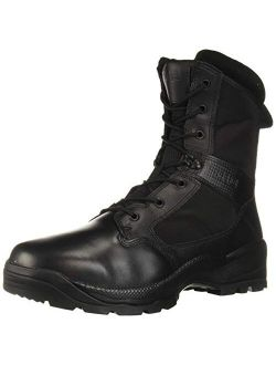 """5.11 Tactical Men's ATAC 2.0 8"""" Leather Black Combat Military Side Zip Boots, Style 12391"""