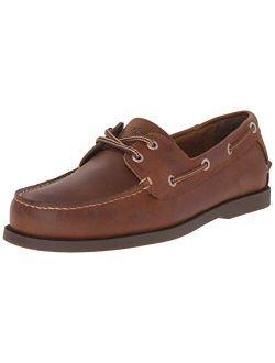 Mens Vargas Leather Handsewn Boat Shoe
