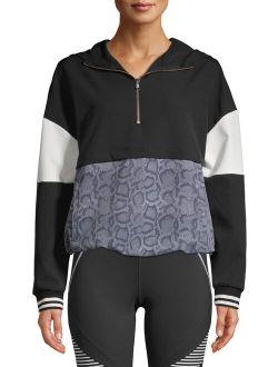 Women's Athleisure 1/4 Zip Colorblock Pullover Hoodie