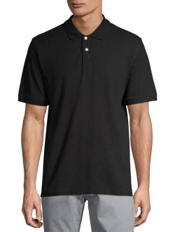 Men's And Big Men's Stretch Pique Polo Shirt, Up To Size 5xl