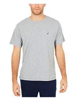 Men's Short Sleeve Crew Neck Soft Knit Sleep Tee
