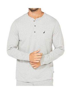 Men's Long Sleeve Henley Pajama Top