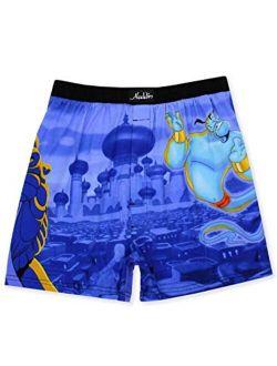Aladdin Genie Jafar Mens Briefly Stated Boxer Lounge Shorts