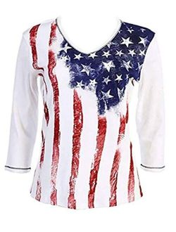 Jess & Jane Old Glory Cotton Patriotic Top