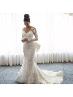 2020 Luxury Formal Mermaid Wedding Dress Delivery In About 33 Days