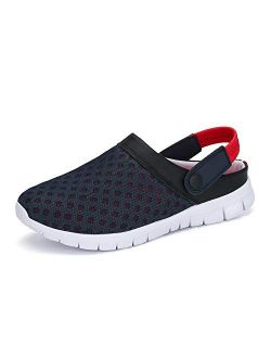 Mens Women Garden Clogs Slip On Beach Sandals Breathable Comfortable Water Shoes Slippers